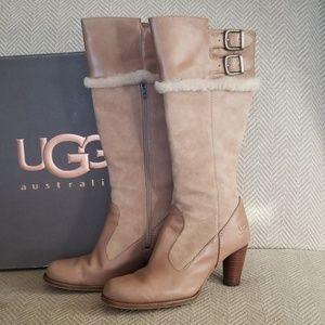 UGG Raya chocolate sheep skin boots, size US 7